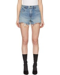 Alexander Wang - Indigo Denim Cut-off Bite Shorts - Lyst