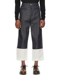 Loewe - Navy Fisherman Jeans - Lyst