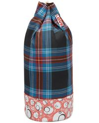 Charles Jeffrey LOVERBOY Blue And Red Screaming Suns Duffle Bag