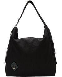 OAMC Black Inflated Messenger Bag
