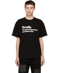 Sacai - Black Truth T-shirt - Lyst