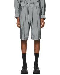 3.1 Phillip Lim Grey Drawstring Cargo Shorts