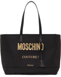 Moschino - ブラック ロゴ トート - Lyst