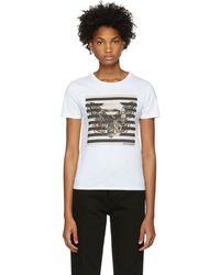 Alexander McQueen - White Butterfly Skull T-shirt - Lyst