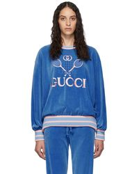 Gucci テニス スウェットシャツ - ブルー