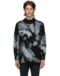 424 ブラック モヘア オーバーサイズ クルーネック セーター
