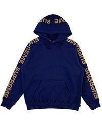 Supreme Metallic Rib Hoodie Sweatshirt 'ss 20' - Blue