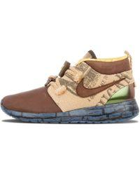 29c937da5409 Nike Roshe One Hi Suede Sneaker Boots in Brown - Lyst