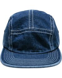 d425dffb5f9 Stussy Washed Oxford Canvas Camp Cap in Gray for Men - Lyst