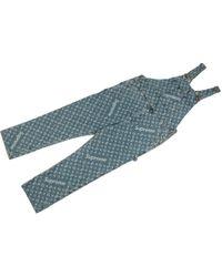 Louis Vuitton Jacquard Denim Overalls - Blue