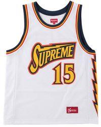 Supreme Bolt Basketball Jerseyy 'ss 18' - White