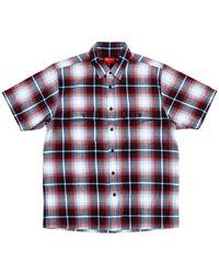 Supreme Short-sleeved Plaid Flannel Shirt - Blue