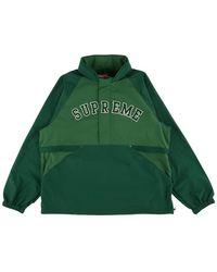 Supreme Court Half Zip Pullover Top 'ss 18' - Green