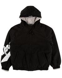 Supreme Sleeve Script Sideline Jacket 'ss 18' - Black
