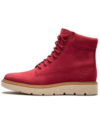 Timberland Kenniston 6in Shoes - Size 8.5w - Red