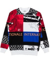 Palace Internationale Collage Crewneck T-shirt 'cut And Sewn' - Red