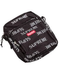 Supreme Reflective Repeat Shoulder Bag - Black