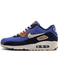 Men's Air Max 90 Premium Se Casual Sneakers From Finish Line in Game RoyalLight Cream Ca