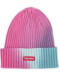 Overdyed Beanie Hat 'ss 19' - Pink