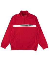 Supreme Half Zip Warm Up 'ss 18' - Red