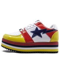 A Bathing Ape Platform Sta Low Shoes - White
