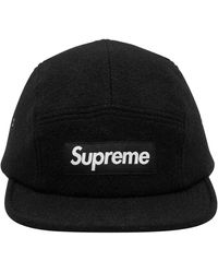 Supreme Featherweight Wool Camp Cap 'fw 17' - Black