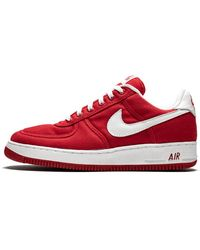 Air Force 1 Canvas Shoes Size 11 Red