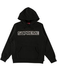 Supreme - Perforated Leather Hooded Swea - Lyst