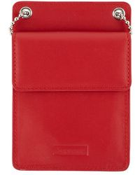 "Supreme Leather Id Holder ""fw 18"" - Red"