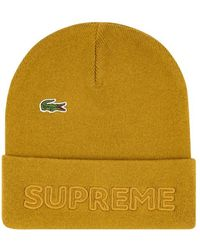 Supreme X Lacoste Knitted Beanie - Metallic