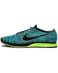 Nike Flyknit Racer 'blue Lagoon' Shoes - Size 8.5