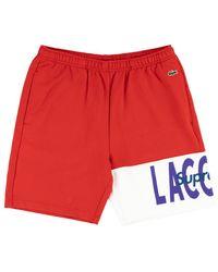 Supreme Lacoste Logo Panel Cap Sweatshort 'fw 19' - Red