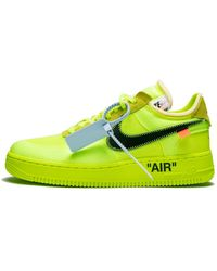 NIKE X OFF-WHITE The 10: Air Force 1 Low 'off-white Volt' Shoes - Size 4 - Yellow