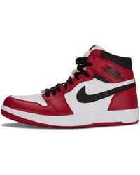 Nike Air 1 Mid 'chicago - Black Toe' Shoes - Size 7.5 - Red
