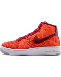 Nike Womens Af1 Flyknit - Size 6w - Red