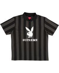 """Supreme Playboy Soccer Jersey """"ss 18"""" - Black"""