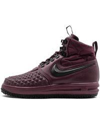 Nike Lunar Force 1 Duckboot 17 'bordeaux' - Size 9 - Purple