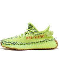 adidas Yeezy Boost 350 V2 'semi Frozen' Shoes - Size 9.5 - Green