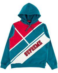 90e72735 Supreme - Diagonal Hooded Sweatshirt Dark Aqua - Lyst. Aimé Leon Dore - Reverse  Fleece ...