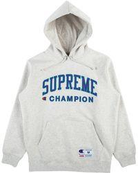 Supreme - Champion Hooded Sweatshirt - Lyst