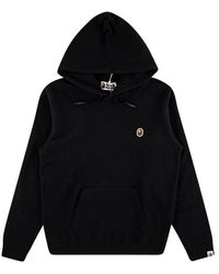 A Bathing Ape One Point Pullover Top Hoodie - Black