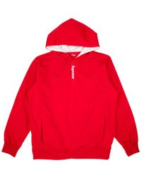Supreme - Contrast Placket Hooded Sweats - Lyst