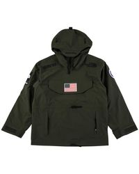 Supreme Tnf Expedition Pullover Jacket 'trans Antarctic' - Green