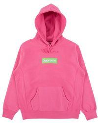 Supreme Box Logo Hooded Sweatshirt 'fw 17' - Pink
