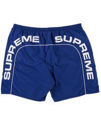 Supreme Arc Logo Water Shorts 'ss 18' - Blue