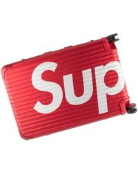 Supreme Rimowa Topas Multiwheel 82l Case Suitcase 'ss 18' - Red