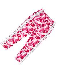 A Bathing Ape Abc Sta Tape Jerseyy Pants - Pink