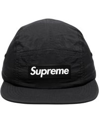 Supreme Raised Logo Patch Camp Cap 'ss 18' - Black