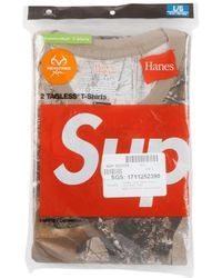 Supreme Hanes Tagless T-shirts (2 Pack) 'fw 17' - Multicolor