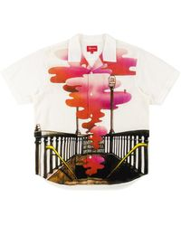 Supreme Rayon Ss Shirt 'fw 19 The Velvet Underground' - White